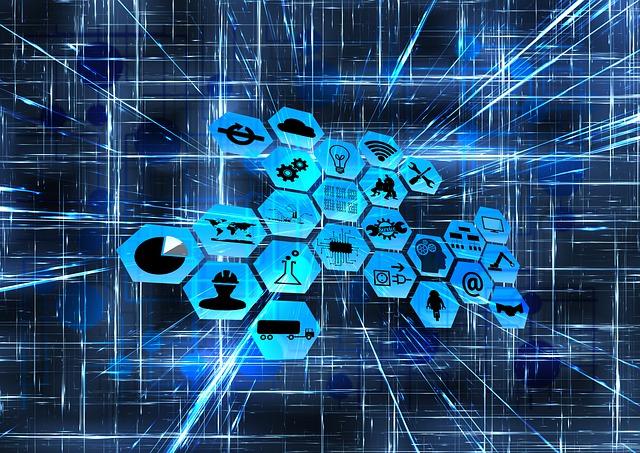 digital transformation illustration with icons