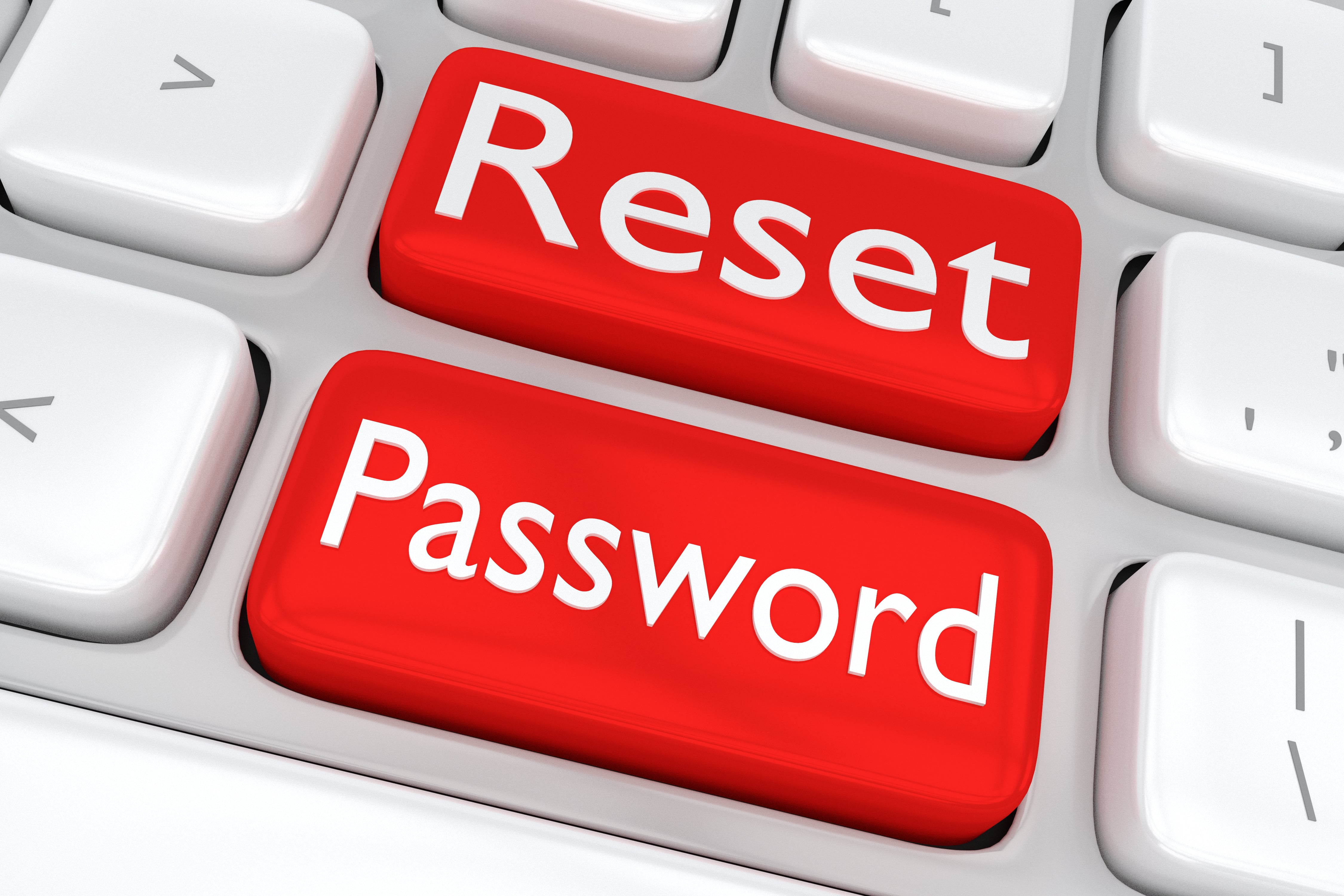 keyboard with password reset buttons